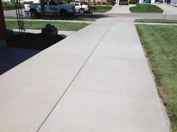 Broom Finished Driveways Gallery Real Help Custom Concrete