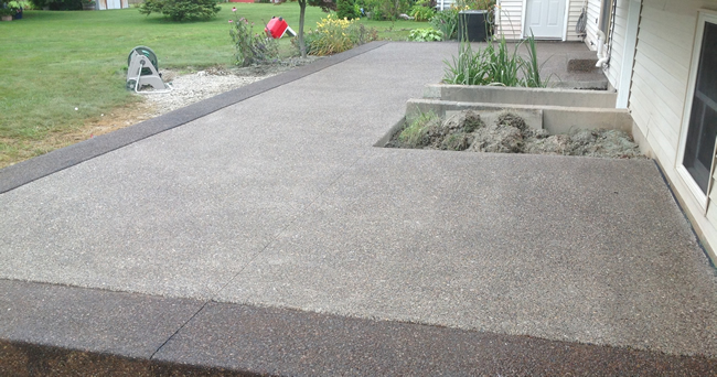 Exposed Aggregate Patio - Exposed Aggregate Concrete Real Help Custom Concrete Company Buffalo