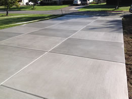 Concrete Driveways Checkerboard Broom Finish By Real Help Concrete
