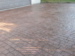 Concrete Driveways Pattern Stamped By Real Help Concrete